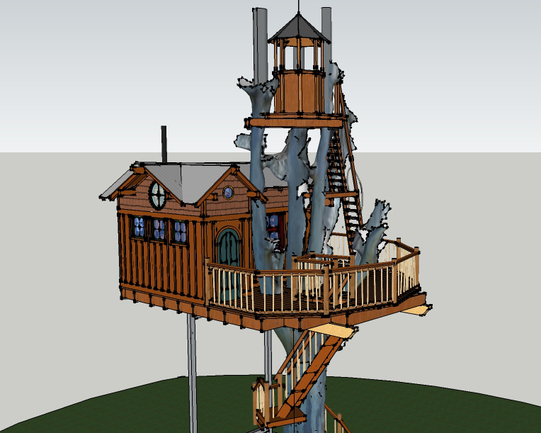 Sonoma Vineyard Treehouse Creating Tree Models For Design
